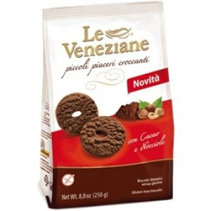 Le Veneziane GF Cookies With Chocolate & Hazelnut
