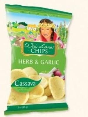 Wai Lana Snacks, Herb & Garlic Chips (Case of 6)