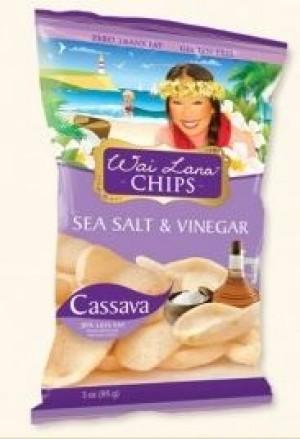 Wai Lana Snacks, Sea Salt & Vinegar Chips (Case of 6)