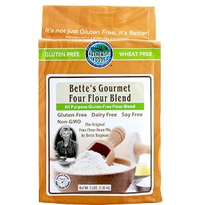 Authentic Foods Bette's Gluten Free Gourmet Four Flour Blend, 3 lbs