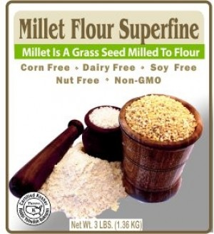 Authentic Foods Superfine Millet Flour, 3 lbs
