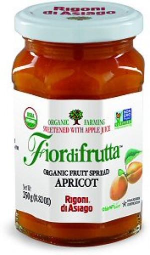 Fiordifrutta Organic Jam Spread, Apricot, 8.82 OZ JAR (Case of  6)