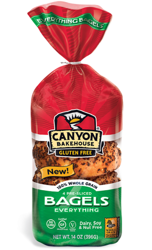 Canyon Bakehouse Gluten Free Everything Bagels, 14 Ounce