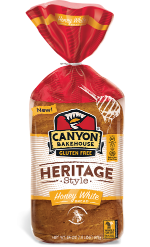 Canyon Bakehouse Heritage Style  Honey White Bread, 24 Ounce Loaf