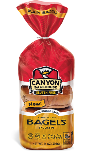 Canyon Bakehouse Gluten Free Plain Bagels, 14 Ounce  (Case of 6)