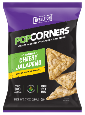 Gluten Free Popcorners, Cheesy Jalapeno White Cheddar, 7 Oz [12 bags]