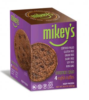 Mikey's Muffins Gluten Free English Muffins, Cinnamon Raisin, 8.8 Oz