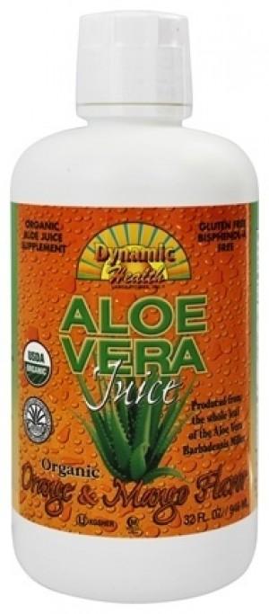 Dynamic Health Fruit Liquid Supplement, Aloe Vera Orange Mango