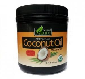General Nature 100% Pure Coconut Oil, Mild  (Case of 8)