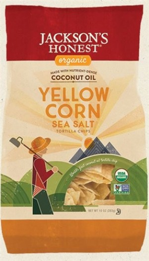 Jackson's Honest Organic Yellow Corn Tortilla Chips, 10 Oz (9 Pack)