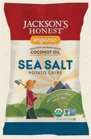 Jackson's Honest Organic Potato Chips Made with Coconut Oil, Sea Salt, 1.2 Oz (36 Pack)