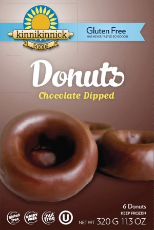 Kinnikinnick Chocolate Dipped Donuts