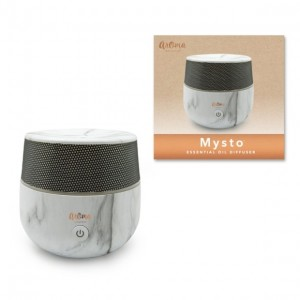 SpaRoom Mysto Ultrasonic Essential Oil Diffuser and Aromatherapy Fragrance Mister, Marble