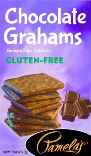 Pamela's Gluten Free Graham Style Crackers, Chocolate, 7.5 Oz [6 Pack]