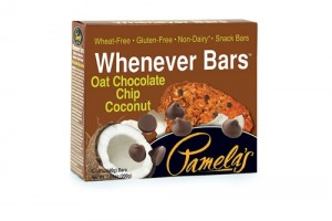 Pamela's Gluten Free Whenever Bars, Oat Chocolate Chip Coconut, 5 Bars per box [Case of 6]