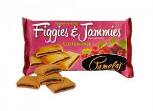Pamela's Gluten Free Figgies and Jammies Cookies, Raspberry & Fig, 9 Oz Bag [6 Pack]