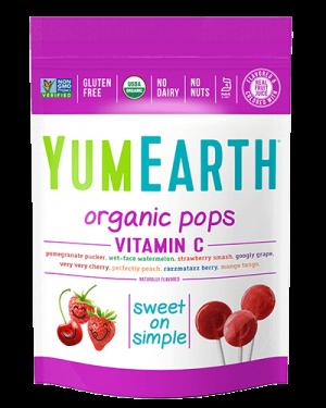 Yummy Earth Organic Lollipop Pouch, Vitamin C Pops