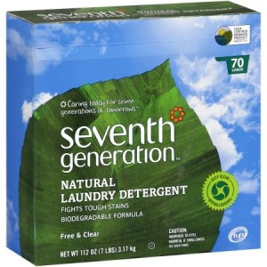 Seventh Generation Natural Powdered Laundry Detergent, Free & Clear, 112 0z [4 Pack]