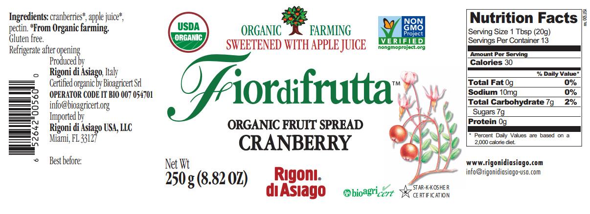 fiordifrutta cranberry nutrition