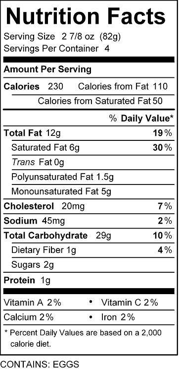 katz blueberry pie nutrition