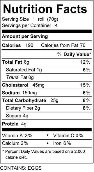 katz oat challah roll nutrition