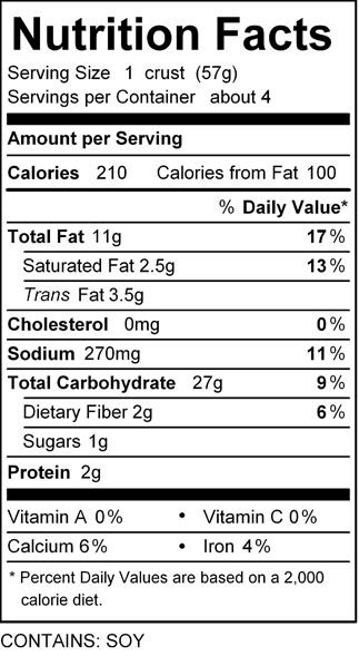 katz pizza crust nutrition