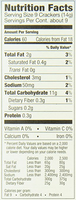 yehuda matzo original cracker nutrition