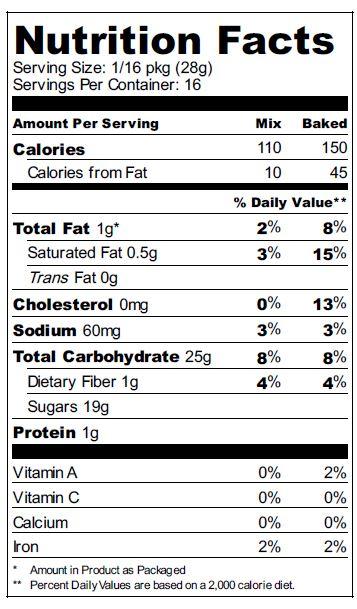 zuvii brownie nutrition
