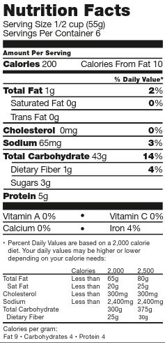 schar penne pasta nutrition